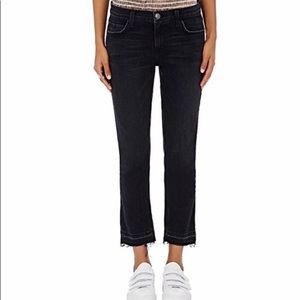 C/E Cropped Straight black jeans